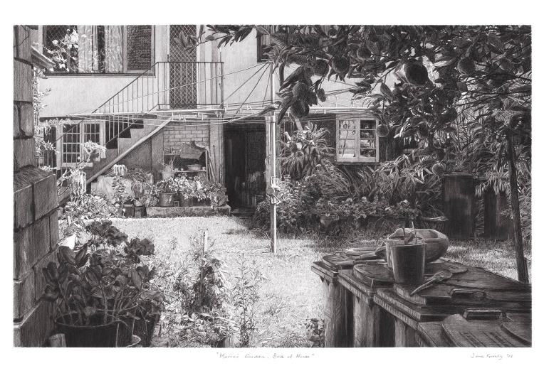 maria's garden, back of house a4 copy