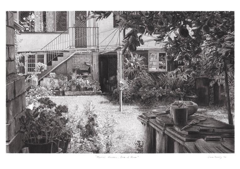 maria's garden, back of house a4 copy