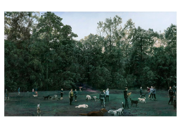 winter's morning - teneriffe dog park - a4